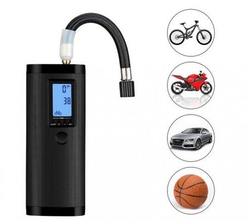 Pumpa na bicykel a auto SMART elektrická + Power bank + LED baterka