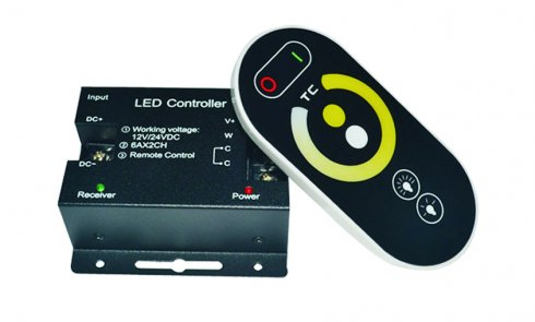White temperature and brightness remote control for LED light strip