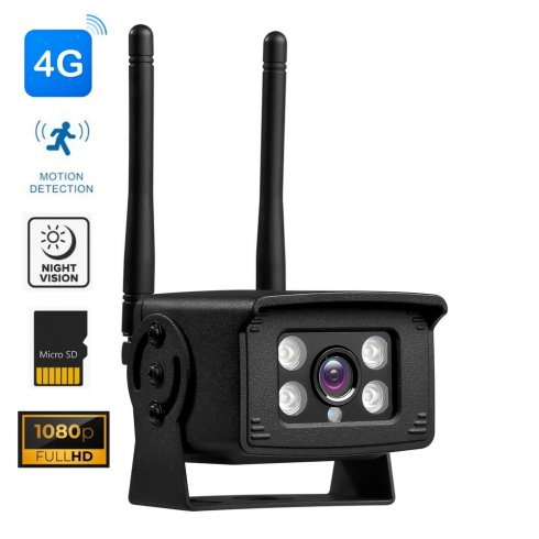 4G IP Full HD kamera s nočným videním do 20m a detekciou pohybu + krytie IP66 + P2P