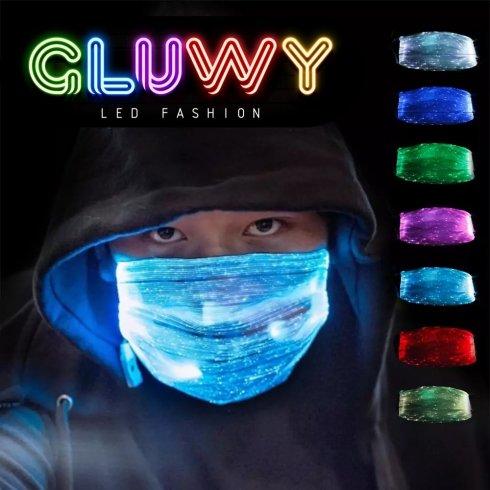 LED svietiaca maska (rúško na tvár) - možnosť prepínať7 Farieb
