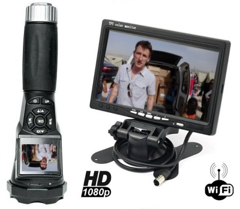"Wifi Kamera v baterke s FULL HD + 7"" LCD Wifi Monitor"
