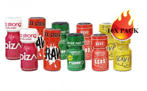 POPPERS EXTRA PACK - 10x MIX