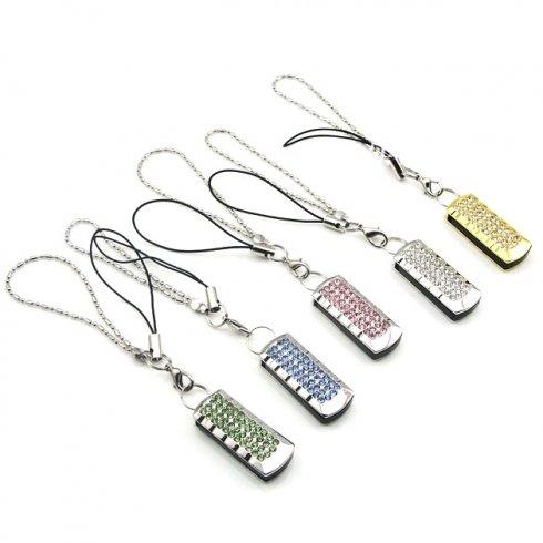 Chiave USB elegante decorato con strass