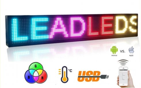 WiFi LED light board 7 color RGB - panel 100 cm x 15 cm