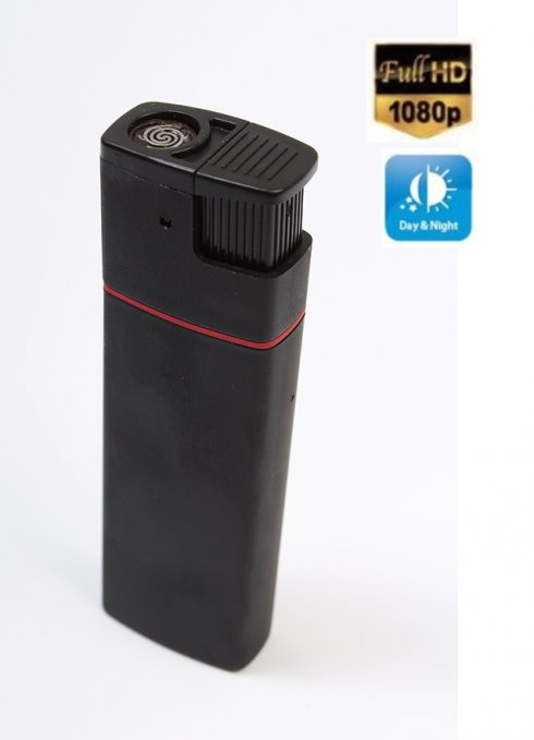 Stylish electric lighter with FULL HD camera and IR LED