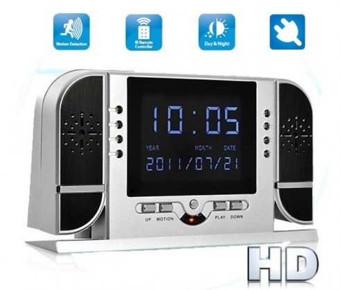 Alarm clock camera with LCD + Motion Detection + 8 IR LED