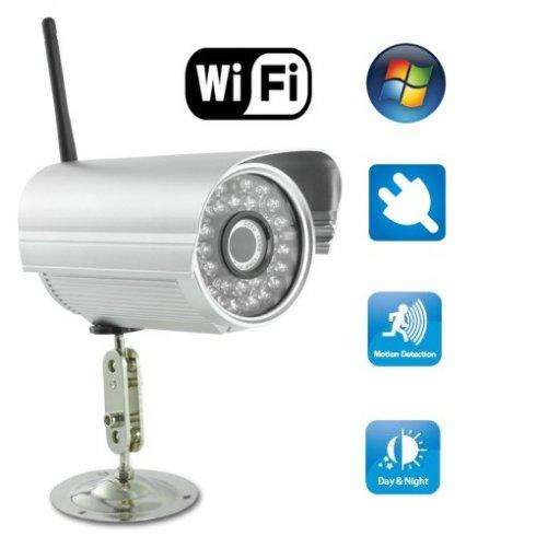Telecamera di sicurezza IP - per esterno con LED lampeggiante IR