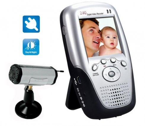 Wireless Palm Monitor + Camera with IR LED