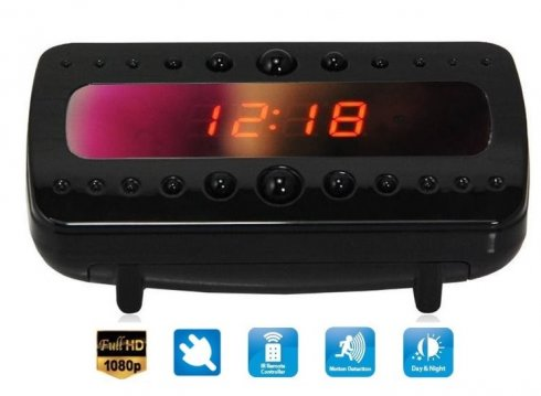 Alarm Clock Camera FULL HD IR LED - can plug to AC/DC socket