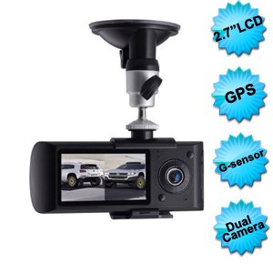 Car camera with gps - 140° angle + GSenzor + Dual Lens