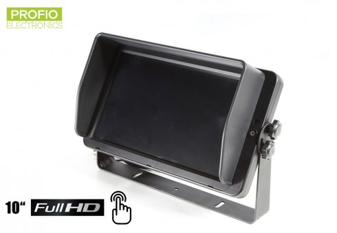 "10"" car reversing HD monitor with touch screen + 4 FULL HD inputs"