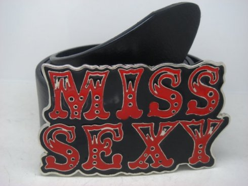Belt buckle - Miss Sexy