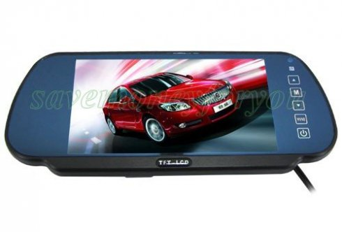 "Rear view mirror with display -  7"" TFT LCD"