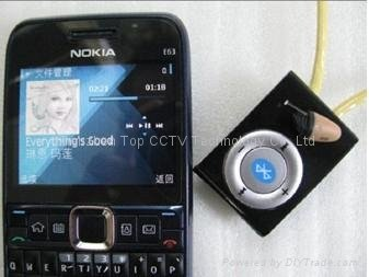Micro slušalka Agent 008 + imitacija Bluetooth Player MP3
