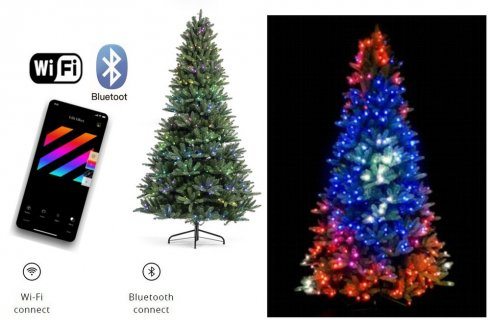 LED tree smart controlled via mobile1,5m - Twinkly Tree - 250 pcs RGB + BT + Wi-Fi