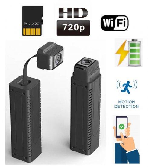 Mini cámara estenopeica HD con cuello de cisne flexible + WiFi / P2P + detección de movimiento