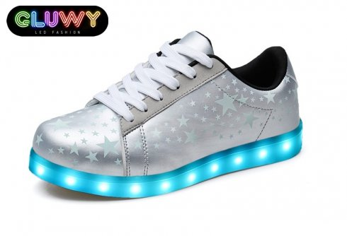 LED shoes lighting - Silver Stars