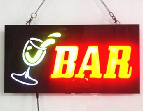 "Svetelná LED reklama ""BAR"" 43 cm x 23 cm"