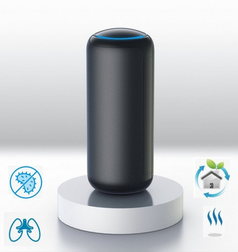 Air purifier with ionizer + humidifier with aromatherapy