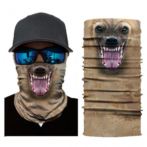 Multifunctional headwear with 3D animal design - HYENA