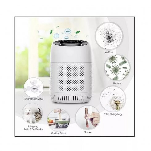 Powerful Ionizer with LCD + air purifier with 99,7% sterilization + pollution detection