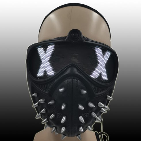 "Maschera viso con spine luminose MAD XX APOCALYPSE - (led ""XX"")"
