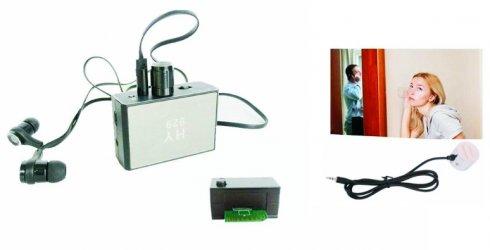 Dispositivi di intercettazione - bug spia per l'ascolto + amplificazione del suono 20000x + registratore