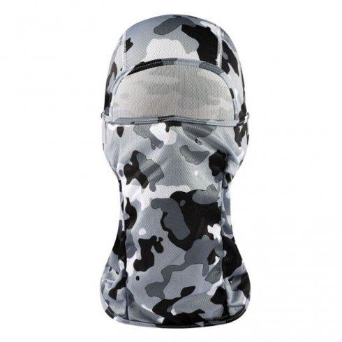 Camouflage balaclava elasticface mask- black and white