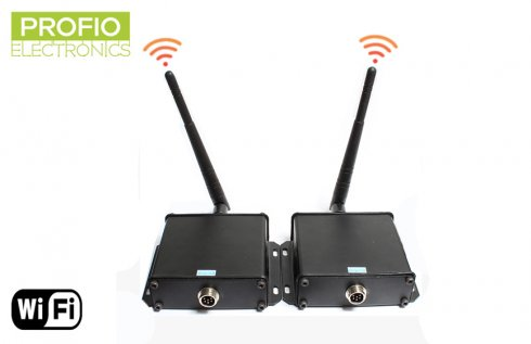 Wifi transmitter and receiver up to 100m for reversing cameras and monitors with 4 pin connector