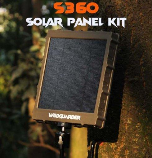 Painel solar (carregador) para armadilhas fotográficas e câmeras + Li-ion 8000mAh + 6/9 / 12V de saída