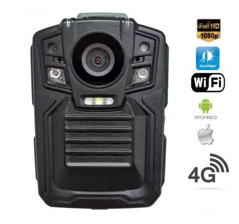 Nosilna kamera Full HD z IR LED + 4G + WiFi in GPS