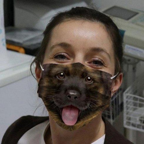 VLČIAKŠŤEŇA -Zvieracie masky na tvár 3D potlač