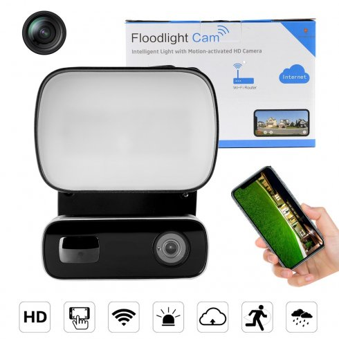 Caméra de détection de mouvement FULL HD + WiFi + Réflecteur LED 10W + Vision nocturne IR + Sirène