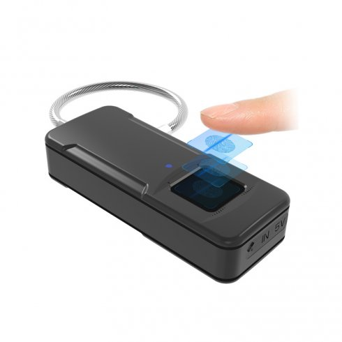 Mini portable intelligent lock with biometric fingerprint sensor