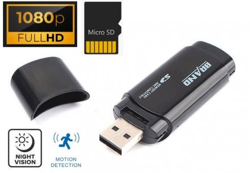USB drive camera hidden with FULL HD + IR LED + Motion detection
