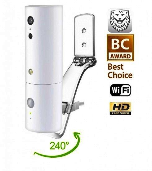 WiFi IP varnostna notranja kamera - iSensor z ločljivostjo HD, rotacijski, vidni kot 240 °