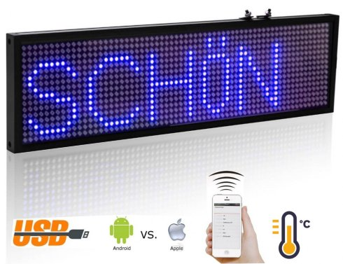 Led message board con WiFi - blu 34 cm x 9,6 cm