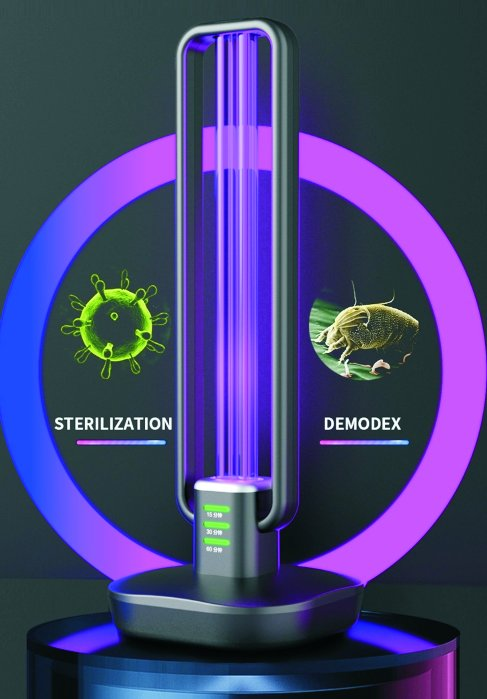 Germicidal light 36W - UV disinfection lamp 360° with ozone sterilization