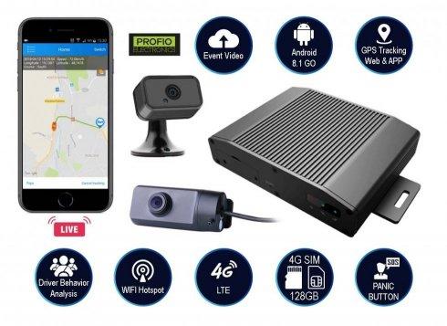 Duální kamerový Cloud systém do auta 4G/WiFi se vzdáleným GPS monitorováním - PROFIO X5