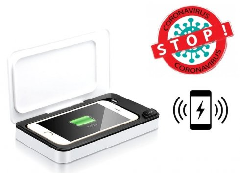 """Phone disinfection box -uv sanitizer for cell phones up to 6,6"""""""