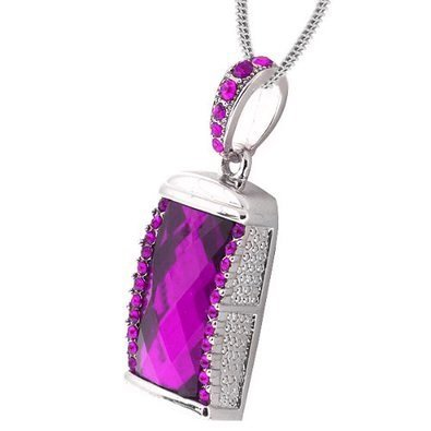 USB Crystal - Purple