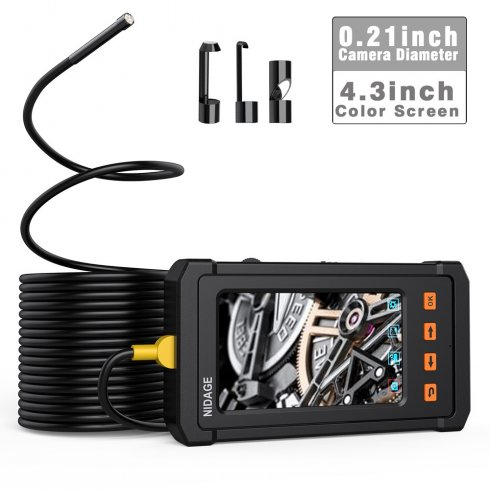 "Endoskopická kamera FULL HD + 4,3"" displej + kamera s 6x LED svetlami s 10m kábel + IP67"