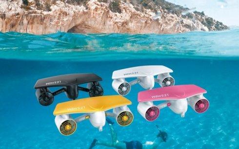 Podvodný skútr na potápění a plavání LESWIM S2 - Seascooter
