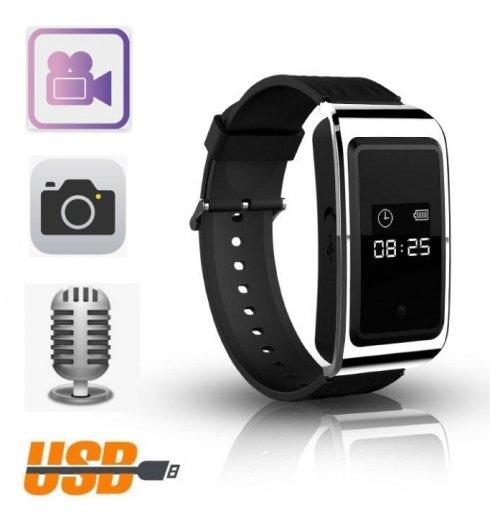 Reloj de pulsera digital con cámara espía + video + foto + dictáfono + memoria de 16GB