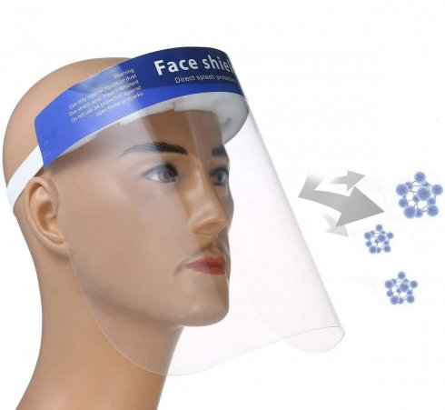 Face shield -transparentand protective withfoam for long-lasting wear