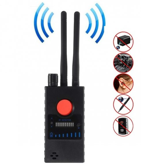 Hidden spy camera and bug detector for GSM, GPS, RF and spy devices