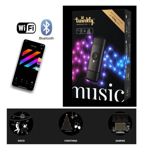Twinkly MUSIC DONGLE - glasbeni krmilnik za LED luči + Wi-Fi + BT