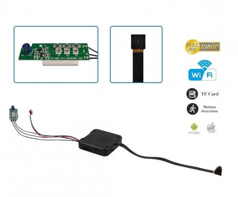 Pinhole Full HD kamera s externým nočným videním + WiFi/P2P s podporou do 128GB micro SD