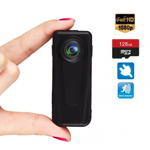 Mini telecamera HD FULL con supporto micro SD da 128 GB