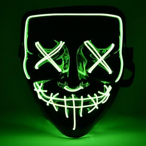 Хелоуин маска Прочистване на LED - зелен